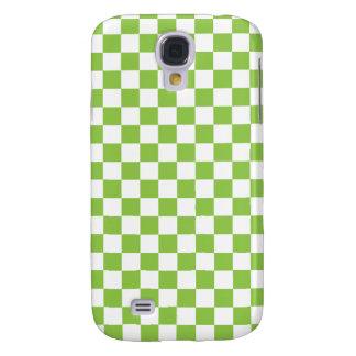 Yellow Green Checkerboard Pattern Samsung Galaxy S4 Case