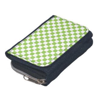 Yellow Green Checkerboard Pattern Wallet