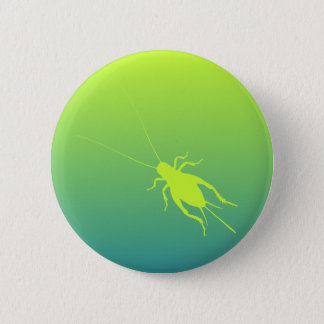 Yellow Green Cricket 6 Cm Round Badge