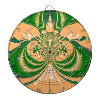 Yellow Green Design. Dart Board
