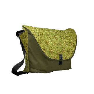 Yellow Green Floral Messenger Bag