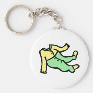 yellow green footy PJ s Keychains