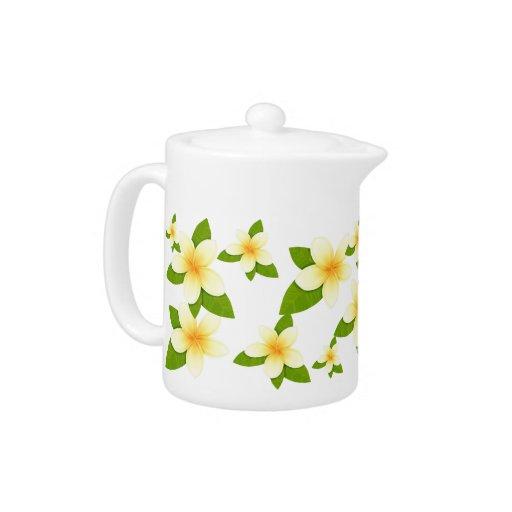 Yellow & Green Frangipani Teapot