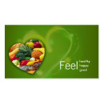 Yellow Green Nutritionist Fruit Heart Card Pack Of Standard Business Cards