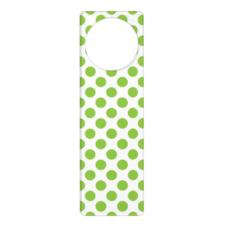 Yellow Green Polka Dots Door Hanger