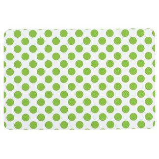 Yellow Green Polka Dots Floor Mat