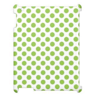 Yellow Green Polka Dots iPad Case