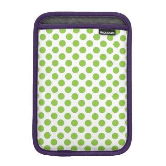 Yellow Green Polka Dots iPad Mini Sleeve