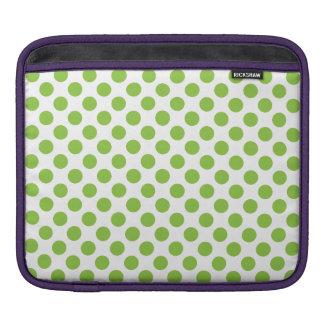 Yellow Green Polka Dots iPad Sleeve