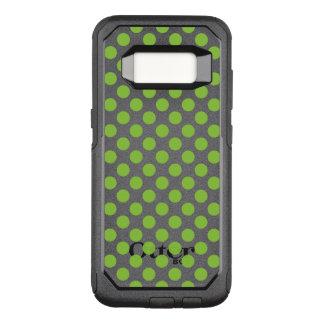 Yellow Green Polka Dots OtterBox Commuter Samsung Galaxy S8 Case