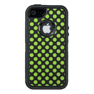 Yellow Green Polka Dots OtterBox Defender iPhone Case