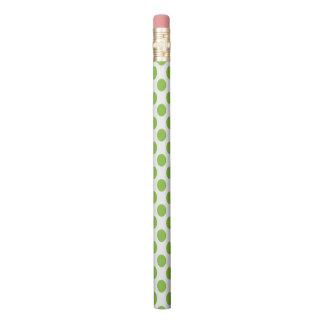 Yellow Green Polka Dots Pencil