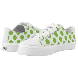Yellow Green Polka Dots Printed Shoes