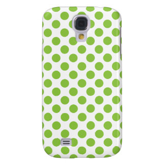 Yellow Green Polka Dots Samsung Galaxy S4 Case