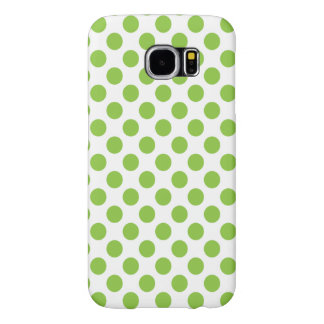 Yellow Green Polka Dots Samsung Galaxy S6 Cases