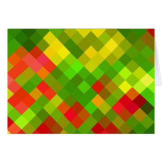 Yellow Green Red Patterns Geometric Designs Color Card