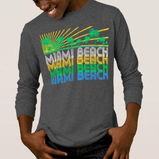 Yellow Green Retro Miami Beach Florida T-Shirt
