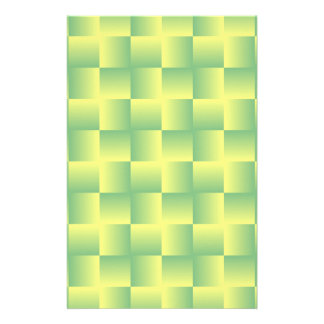 Yellow-green squares stationery