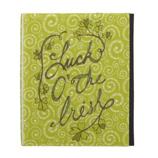 Yellow Green Swirls Luck of the Irish iPad Folio iPad Folio Case