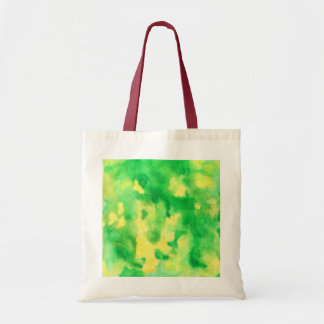 Yellow Green Watercolor Budget Tote