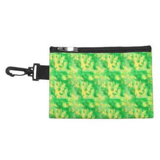 Yellow Green Watercolor Clip-On Accessory Bag