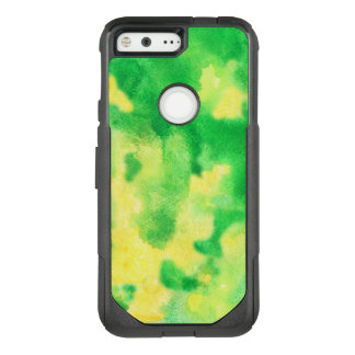 Yellow Green Watercolor Google Pixel Case