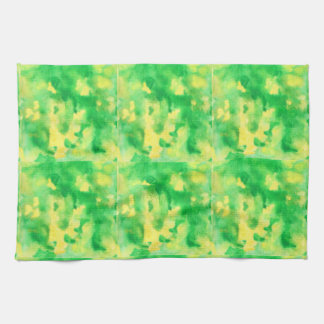Yellow Green Watercolor Kitchen Towel