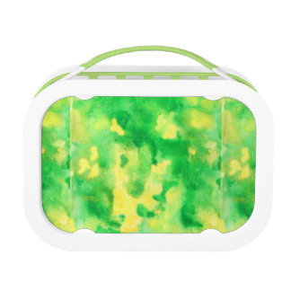Yellow Green Watercolor Lunch Box