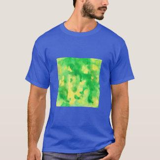 Yellow Green Watercolor Men's Basic T-Shirt