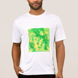 Yellow Green Watercolor Men's Sports T-Shirt