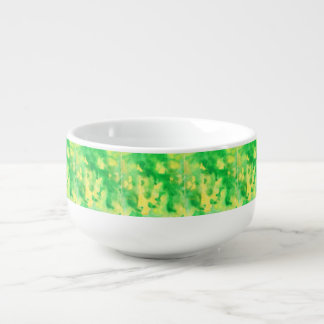 Yellow Green Watercolor Soup Mug