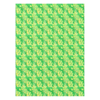 Yellow Green Watercolor Tablecloth 52'' x 70''