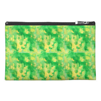 Yellow Green Watercolor Travel Accessory Bag
