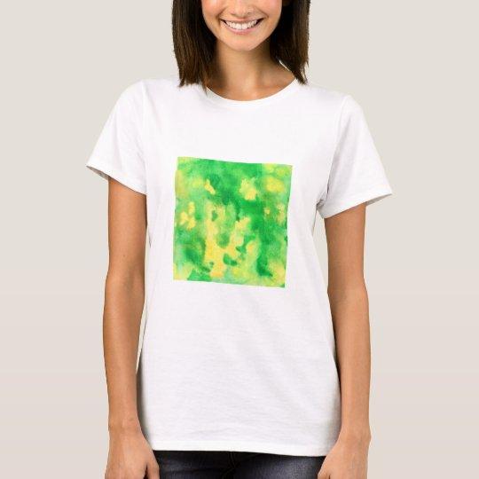 Yellow Green Watercolor Women's Basic T-Shirt