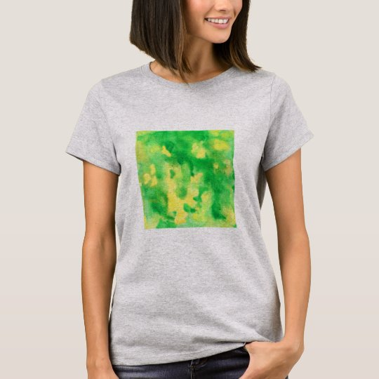 Yellow Green Watercolor Women's Basic T-Shirt