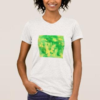 Yellow Green Watercolor Women's Jersey T-Shirt