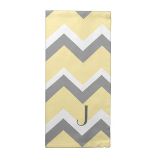 Yellow Grey Chevron American MoJo Napkins