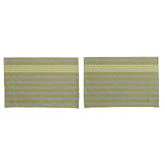 Yellow - Grey Chevron - Turnover Pillow Case