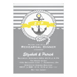 Yellow & Grey Nautical Rehearsal Dinner Invitation