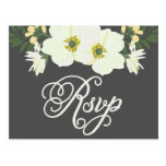 Yellow & Grey Summer Flowers Anemone II RSVP Postcard