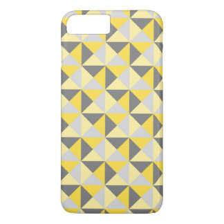 Yellow Grey Triangle Geometric iPhone 7 Case