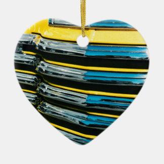 Yellow Grill Ceramic Ornament