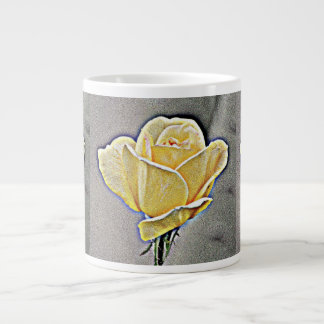 Yellow Gritty Rose Coffee Cup/Mug Large Coffee Mug