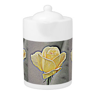Yellow Gritty Rose Flower Pot