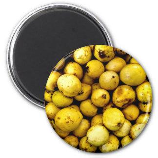 Yellow Guava 6 Cm Round Magnet