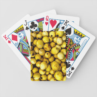 Yellow Guava Bicycle Playing Cards