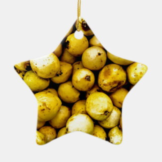 Yellow Guava Ceramic Star Decoration