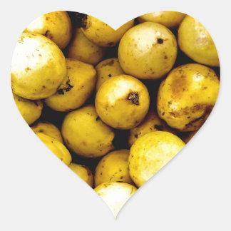 Yellow Guava Heart Sticker