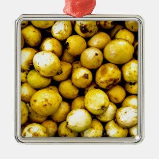 Yellow Guava Metal Ornament