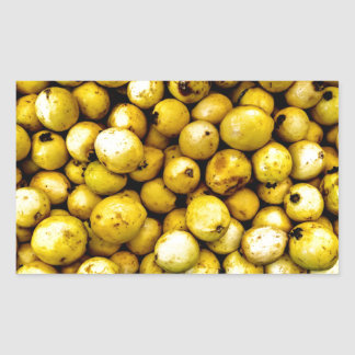 Yellow Guava Rectangular Sticker